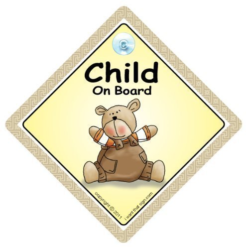 ON BOARD autocollant voiture Jumeaux /à bord b/éb/é/à ENSEIGNE voiture b/éb/é /à bord des signes de Panneau /à S/écurit/é Automobile Brun NUANCES