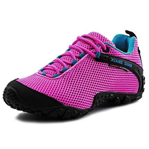 XIANG GUAN Femme Chaussures de Randonnée Basses Respirantes Résistance à l'usure Chaussures de Sports Baskets Outdoor Eté A81286 Rose