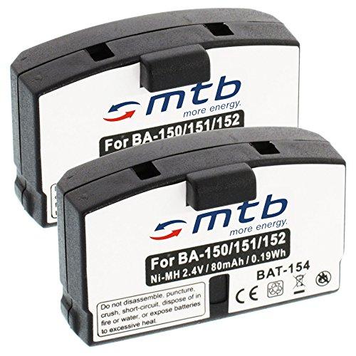 2x Batterie BA150 BA151 BA152 pour Sennheiser Set... / RI.. / RS.. / HDI.. / HDR.. // AKG...- voir liste!