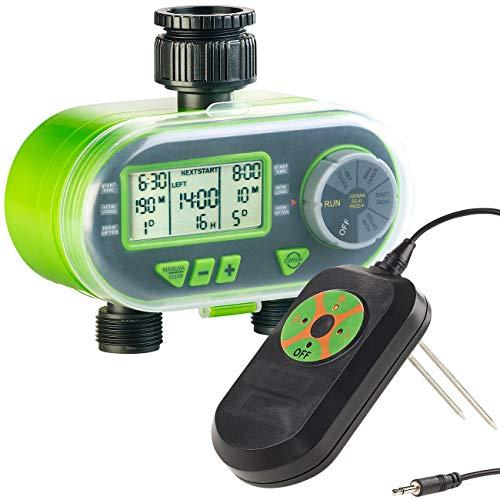 Royal Gardineer Bewässerungsuhr: Set aus Bewässerungscomputer und Regen & Boden-Feuchtigkeitsmesser (Garden-Bewässerungscomputer)