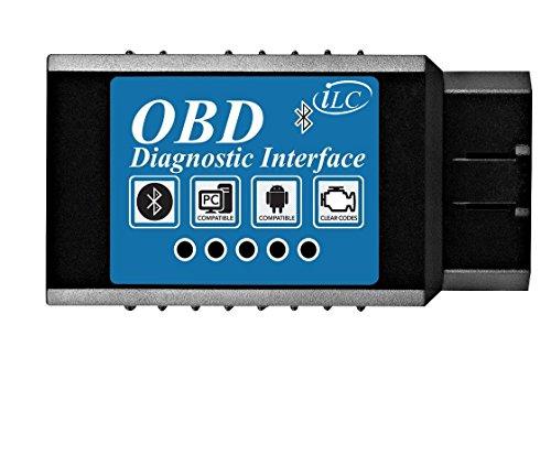 iLC OBDII OBD2 Bluetooth Auto Diagnostico Scanner Strumento - Motore Leggero Controllare Wireless Dati per Smartphone - Compatibile con Android & Windows Dispositivi(2016)