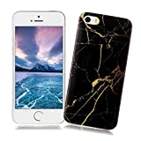 XiaoXiMi Funda iPhone 5/5S/SE con Textura de Mármol Carcasa de Silicona Slim Soft TPU Silicone Case...