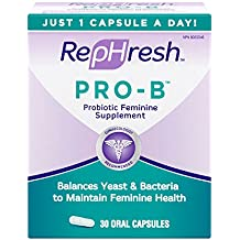 RepHresh Pro-B Probiotic Feminine Supplement, 30-Count Capsules by Rephresh