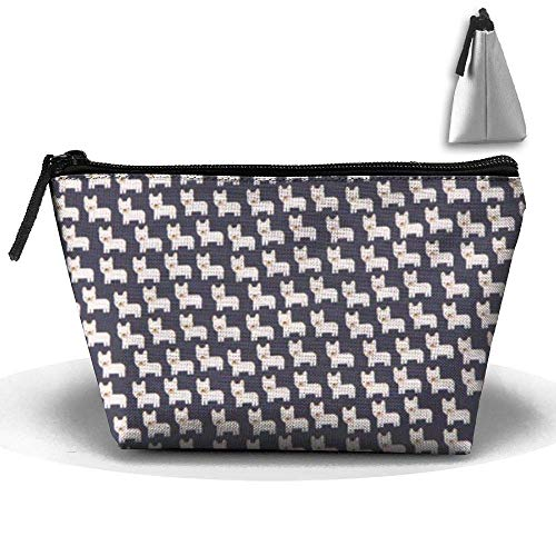 Medium Boston Handtasche (Boston Terrier Kulturbeutel Reise Make-up Kosmetiktasche Multi)