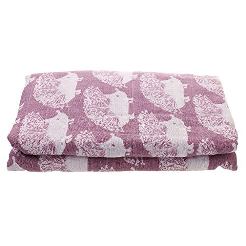 Preisvergleich Produktbild Baby Mädche Decke Zwei-Schichten Swaddle Wrap Bestes Geschenk für werdende Eltern - Puprle Hedgehog