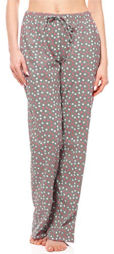 3581fd41d Merry Style Womens Pyjama Trousers MPP-001 (Grey/Dots, L)