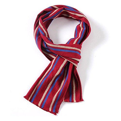 YYH Stampa di seta sciarpa rossa e sciarpa modello mosaico/31 * 181 cm di tintura/geziping uomo . 2