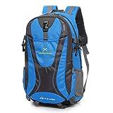 Zaino Per Lo Sport All'aria Aperta Di Grande Capacità In Nylon Impermeabile Campeggio Fitness Uomini E Donne Zaino Da Viaggio,Blue