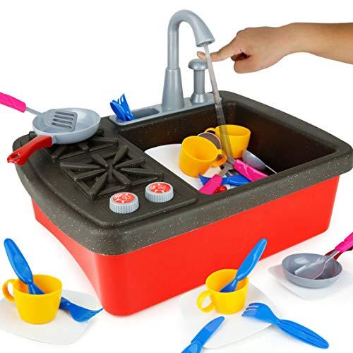 YVSoo Cocina Juguete Niños Lavavajillas Lavaplatos
