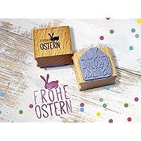 Stempel Frohe Ostern Osterhase Osterdeko handmade