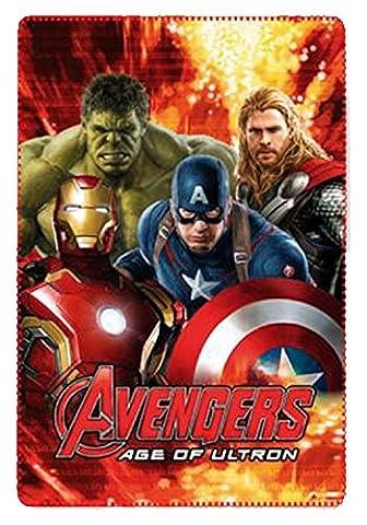Kinder Lizenzierte Marvel The Avengers Fleece Blanket 100 x 150 cm. (Rot)