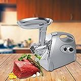 Tritacarne Elettrico professionale, 800W Macchina per Salsicce Professionale, 3 Diverso accessori per il taglio, in Acciaio Inox