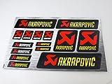 Decalcomanie adesive Akrapovic Decalcomanie vinile resistente al calore da 30x20cm con protezione extra sulla parte superiore