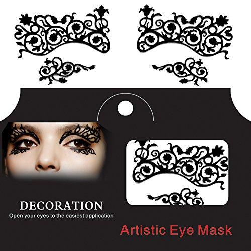 Egbert Augen Tattoo Sticker Halloween Spitze Squishy Augen Liner Fretwork Maskerade Papercut Temporäre Gesicht - Weiß