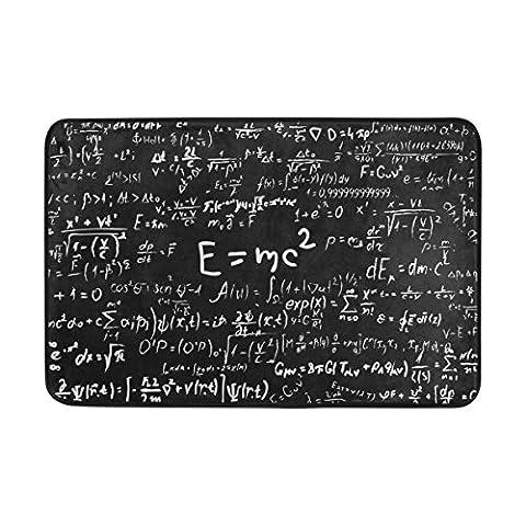 jstel Tafel wissenschaftlichen Formeln und Berechnungen-Fußmatte waschbar Garten Büro Fußmatte, Küche ESS-Living Badezimmer Pet Eintrag Teppiche mit Rutschfeste Unterseite 59,9x 39,9cm