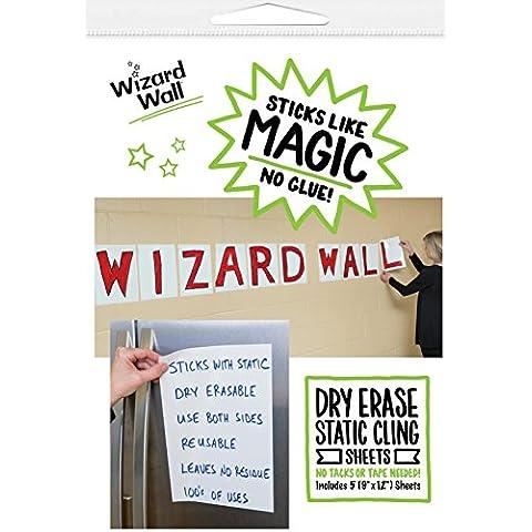 WIZARD WALL SIGN SHEETS 9X12 5PK