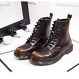 SITAILE Unisex-Erwachsene Bootsschuhe Derby Schnürhalbschuhe Kurzschaft Stiefel Winter Boots für Herren Damen Gefüttert Braun EU43