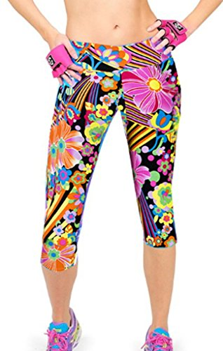 Smile YKK Pantalon Taille Haute Femme Legging Sculptant Physique Yoga Jogging Casual Elastique #C