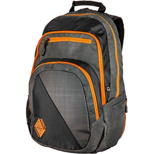 Nitro Stash Rucksack, Schulrucksack, Schoolbag, Daypack, Blur-Orange Trims, 49 x 32 x 22 cm, 29 L (100% Trim Polyester-fleece)