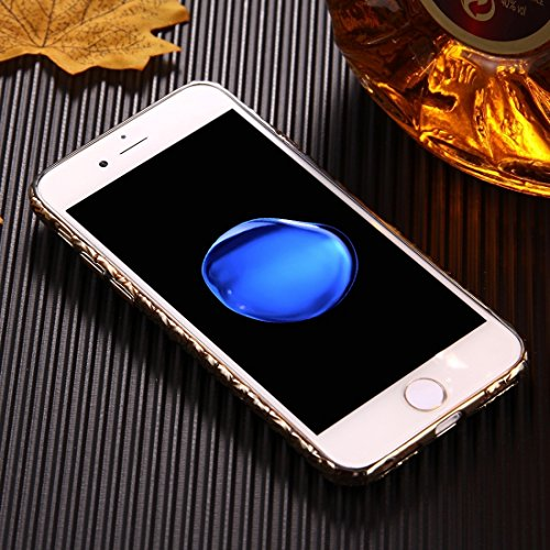 MXNET Fall für iPhone 6 u. 6s geprägtes Schwan-Muster-galvanisches TPU schützender Abdeckungs-Fall ,Iphone 6/6s Case ( Color : Black ) Gold