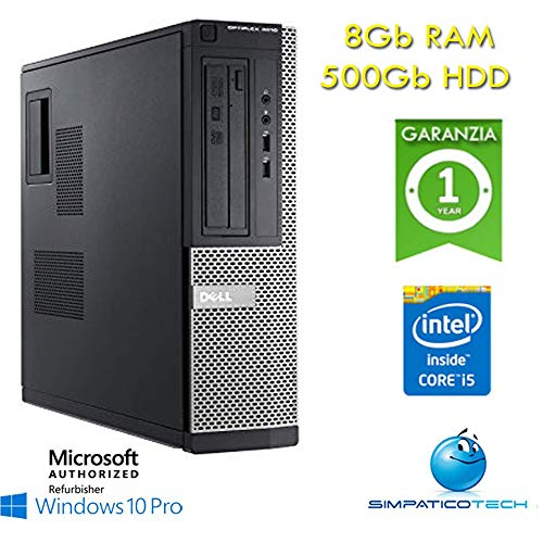 Dell Optiplex 3010 Core i5-3470 8Gb 500Gb Windows 10 Professional mit neuem Simpaticotech MAR Microsoft Authorized Refurbisher (Referenz) (Dell Desktop Windows 8)