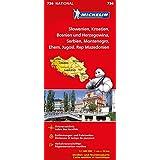 Slowenien Montenegro Bosnien Kroatien Serbien (Michelin Nationalkarte)