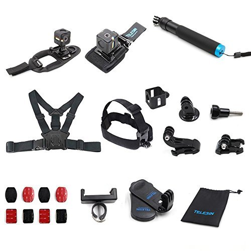 TELESIN 13-in-1-Zubehör-Kit für Polaroid Cube und Polaroid Cube+ Lifestyle Action Kamera