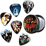 ACDC Set of 6 Loose Guitar Médiators in Tin ( Collection E )
