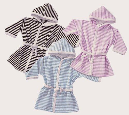 Baby Kinder Bademantel, 74 -80, bleu-weiss, herrlich weich und kuschlig