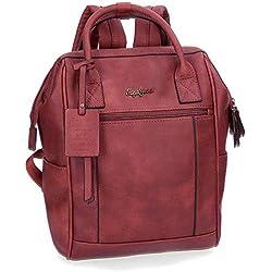 Pepe Jeans 7492262 Colette Mochila tipo casual, 32 cm, 14.85 litros, Rojo