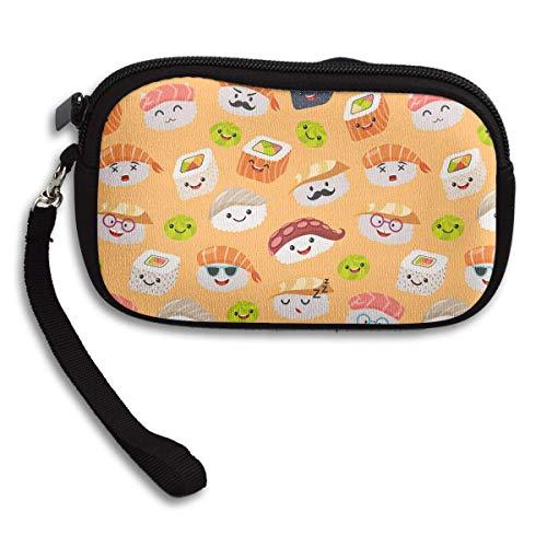Portable Zipper Wallet Long Pouch Print,Handbag with Strap,Cosmetic Bag Pouch W1 -