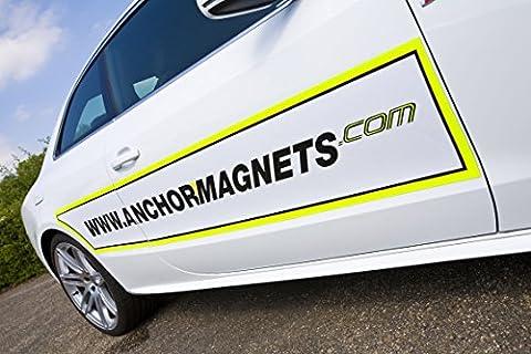 supa-mag 0,75mm d'épaisseur Feuille magnétique Blanc brillant (Épaisseur totale avec