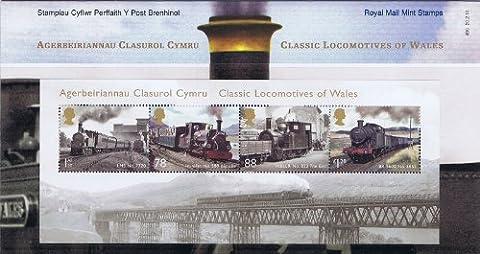 2014Classique Locomotives du Pays De Galles M/S Présentation Pack N ° 495–Royal Mail timbres