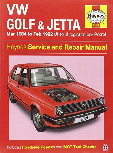 VW Golf & Jetta Mk 2 Petrol (Mar 84 - Feb 92) Haynes Repair Manual (Haynes Service and Repair Manuals) by Anon (2014-12-02)