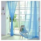 2er Pack Voile transparent Übergardinen Gardine Vorhang Stores Raumteiler Fensterschal