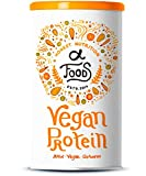 Vegan Protein - Reis-, Hanf-, Soja-, Erbsen-, Chia-, Sonnenblumen- und Kürbiskernprotein + Kokosmilch, Superfoods und Verdauungsenzymen - 600 Gramm Pulver mit natürlichem Vanillegeschmack