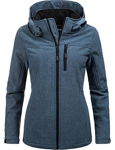 Peak Time Damen Übergangs-Jacke Softshelljacke L60028 Blau Gr. 46