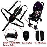 Cinturón de seguridad de ZARPMA, arneses de asiento ajustables de 5/3/2 puntos para bebé, correa de seguridad para cochecito de bebé (incluye almohadillas de hombro y almohadilla de protección)