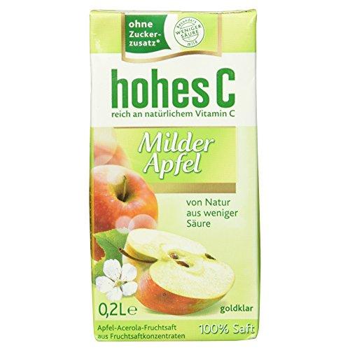 Hohes C Milder Apfel Saft 100%, 3 Trinkpacks, 600 ml