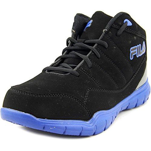 Fila Jump Flex Cuir Baskets Black-Black-PrBlue