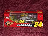 Jeff Gordon #24 Green Yellow Flames Dupont Nicorette Chevy Impala SS Car of Tomorrow Today COT Winners Circle 1/24 Scale With Hard Acrylic Display Case by NASCAR