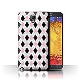 Stuff4 Custodia/Cover/Caso/Cassa Rigide/Prottetiva Stampata con Il Disegno Moda Inverno per Samsung Galaxy Note 3 Neo - Rosa Argyle