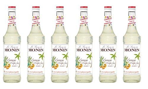Monin Sirup Curaçao Triple Sec, 0,7L 6er Pack - Sirup Sec Triple
