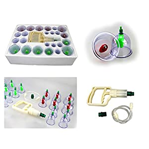 ABC Schröpfen Set (Cupping Set) Vakuum Massage mit Schröpfgläser M16