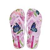 Hotmarzz Damen Mode Sommer Strand Hausschuhe Flach Zehentrenner Sandalen Schmetterling Blume Tier Rutschen Zuhause Schuhe Size 35 EU/36 CN, Pink