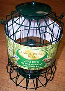 Larchwood Hill Wild Bird Seed Feeder - Squirrel Resistant by Akerman