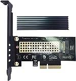 glotrends PA09-HS M.2 NVME Adaptateur Carte avec Dissipateur de Chaleur pour Key-M M.2 SSD