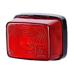1x rosso coda luce di indicatore laterale 12V 24V e-contrassegnato auto camion rimorchio luce di posizione illuminazione Outline Quadrat quadrato universale lampadina