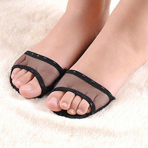 Frauen Fuß, Lace Still High Pad Schuhe Ferse Einlegesohlen Fuß vorne Hälfte Matte rutschfest -