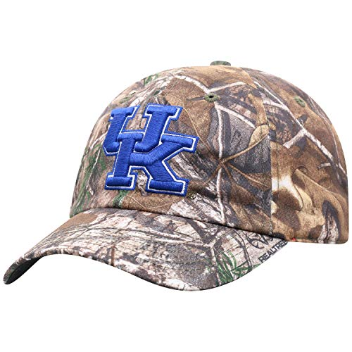 Top of the World NCAA Kentucky Wildcats Men's Real Tree Camo Adjustable Icon Hat, Real Tree